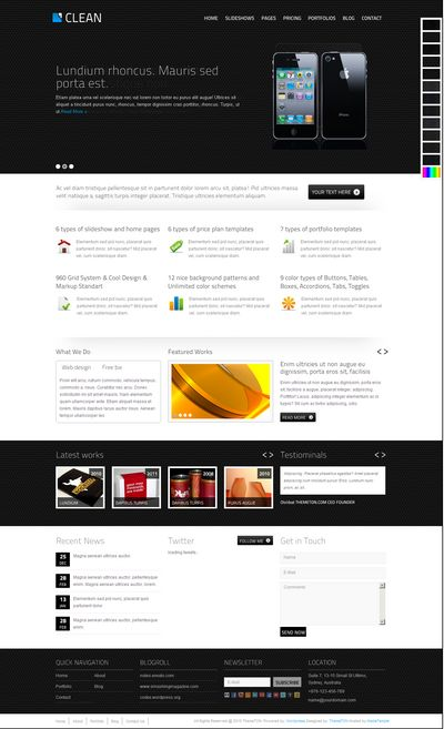 CLEAN HTML CSS TEMPLATE
