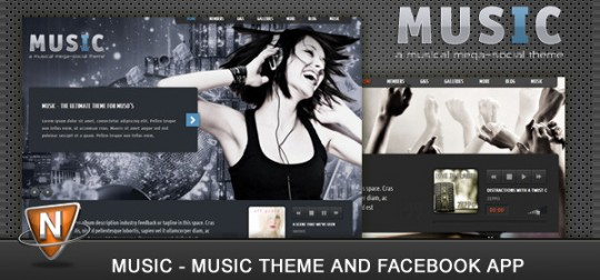 Music-Musicians-theme-Facebook-app