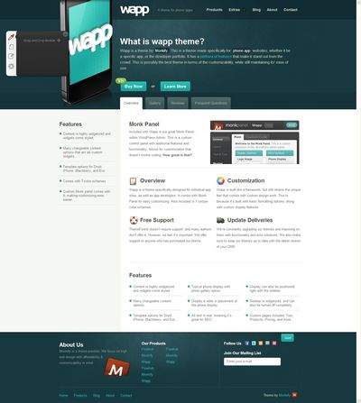 Wapp Demo _ Monkify Premium CMS Themes _ A theme for phone apps