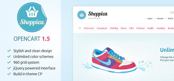 Shoppica OpenCart时尚电子购物商城商业模板Shoppica-Premium-Open-Cart-Theme