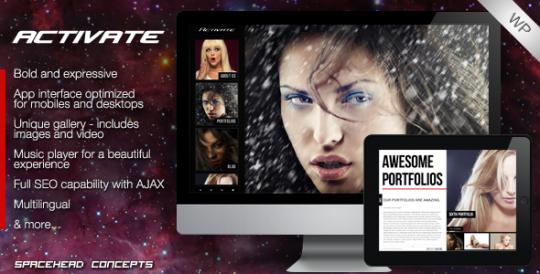 Activate 全屏摄影 WordPress主题