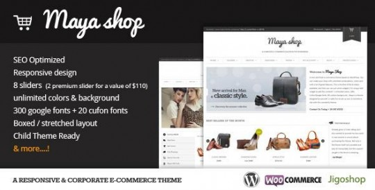 WordPress主题 MayaShop 强大的购物MayaShop-A-Flexible-Responsive-e-Commerce-Theme-540x274