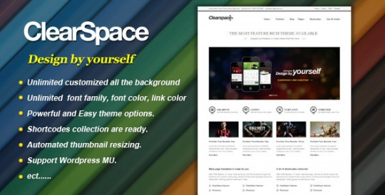 wordpress主题 Clearspace 大气简洁强大 Clearspace-Powerful-Business-Wordpress-Theme-540x274