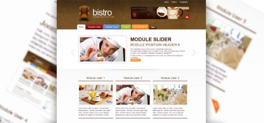 Joomla 1.5&2.5模板 JP Bistro Open Source Content Management