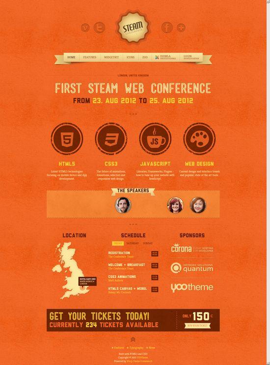 Joomla 1.5&2.5模板 YT Steam  Steam Theme