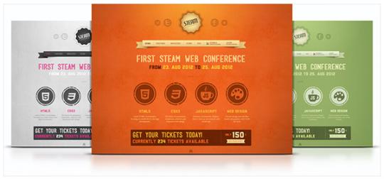 Joomla 1.5&2.5模板 YT Steam  YT-Steam-Theme-540x252
