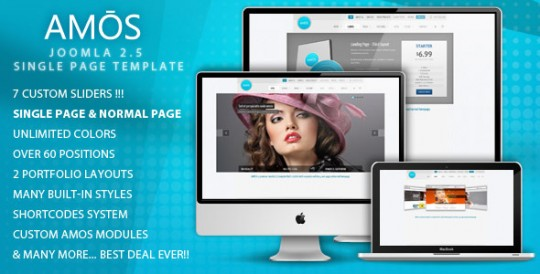 Joomla 2.5模板 AMOS AMOS-Template-for-Joomla-540x274