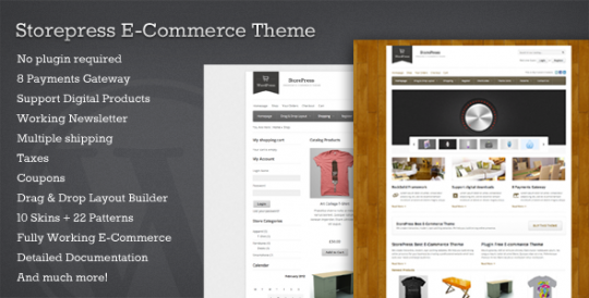 WorPress购物主题 StorePress-Premium-WordPress-E-commerce-Theme