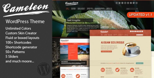 WordPress主题 Cameleon 多用途 Cameleon-Multipurpose-WordPress-Theme