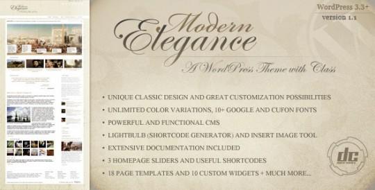 WorPress主题 Modern Elegance 旅游 文艺Modern-Elegance-A-WordPress-Theme-with-Class