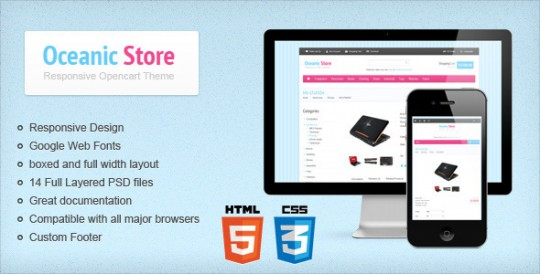 Oceanic-Store-Responsive-Opencart-ThemeOceanic Store Opencart网店主题
