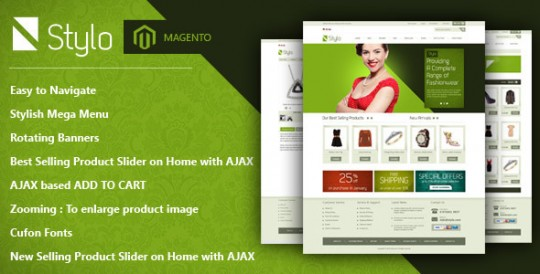 Stylo-Magento-Theme-Clearn-Modern-Stylish-Stylo Magento专业服饰商城商店主题