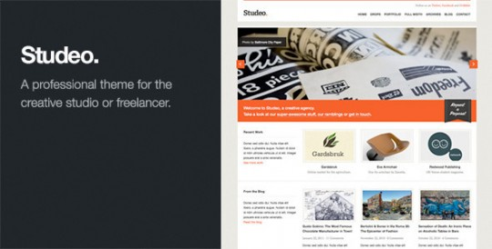 WordPress商务企业主题 Studeo WordPressStudeo-Creative-Agency-Business-WordPress-Theme