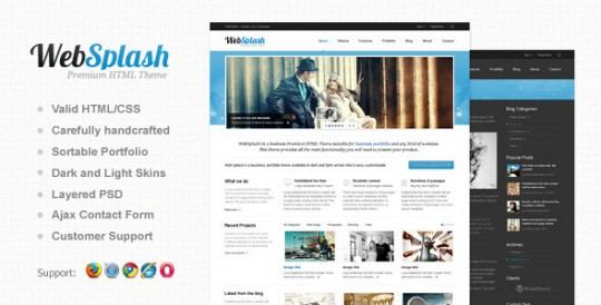 Web-Splash-Premium-HTML-TemplateHTML模板 CSS模板 Web Splash