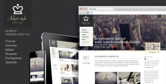 自适应商务企业 WordPress  Adept Style WordPress中文主题 Adept-Style-Responsive-for-Business-Portfolio