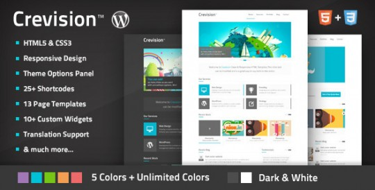 Crevision-Responsive-WordPress-Theme-WordPress企业中文主题 Crevision WordPress