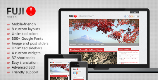 Fuji-Clean-Responsive-WordPress-Theme WordPress主题 Fuji WordPress