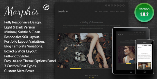 极简自适应 WordPress主题 Morphis WordPress[v1.2] Morphis-Responsive-WordPress-Theme