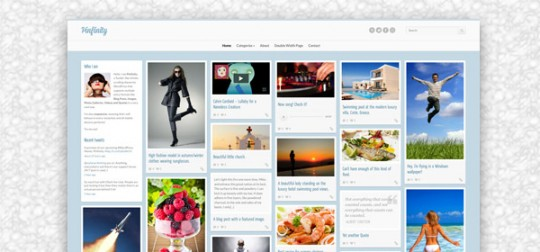 WordPress自适应瀑布流主题 Pinfinity WordPress[更新至v1.4]Pinfinity-wordpress-theme