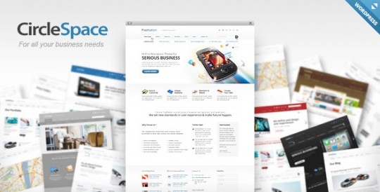 Circlespace WordPress主题 Circlespace WordPress circlespace-wordpress-business-theme