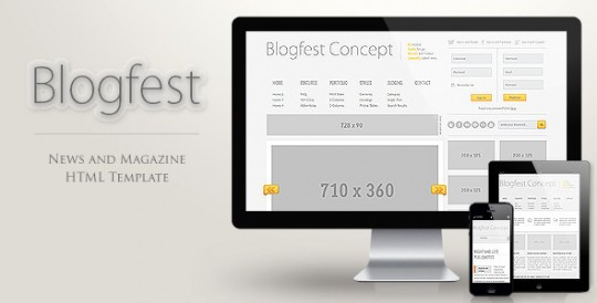 Blogfest XHTML CSS静态网站模板Blogfest-Blog-News-and-Magazine-HTML-template