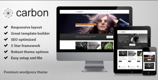 Carbon WordPress 企业 WordPress主题Carbon-Responsive-Wordpress-Theme