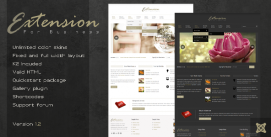 经典企业Joomla模板 Extension Joomla[v1.2] Extension-Premium-Joomla-Template
