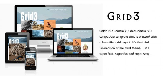 艺术设计师展示 Joomla模板 Grid3 JoomlaGrid3-Joomla-2.5-and-Joomla-3.0