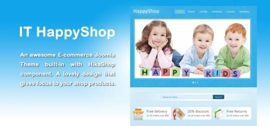 IT HappyShop 儿童商城 Joomla模板 IT-HappyShop