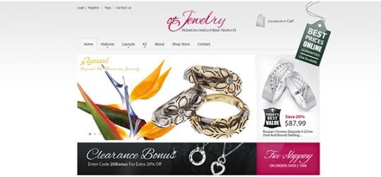 OT Jewelry Joomla 珠宝 Joomla模板OT-Jewelry-joomla