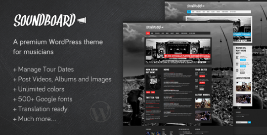 音乐博客/杂志 wordpress主题 Soundboard wordpress[v1.05]Soundboard-a-Premium-Music-WordPress-Theme