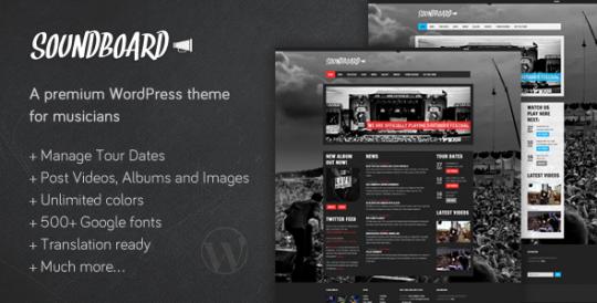 音乐博客/杂志 wordpress主题 Soundboard wordpress[v1.05]Soundboard-a-Premium-Music-WordPress-Theme
