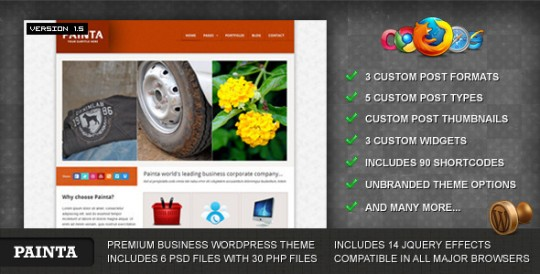 Painta WordPress WordPress主题[v1.1] Painta-Business-WordPress-Theme