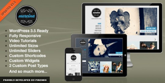 Mercina wordpress 创意 wordpress主题[v3.4]Mercina-WPress-Theme