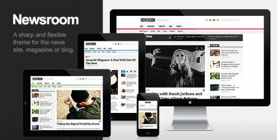Newsroom wordpress 新闻杂志 wordpress主题 Newsroom-Responsive-News-Magazine-Theme